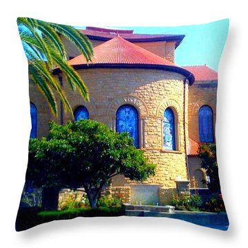 Stanford University Chapel - Palo Alto Ca Throw Pillow