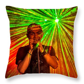 Star Burst Throw Pillow by Christopher Holmes
