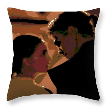 Star Crossed Lovers Throw Pillow