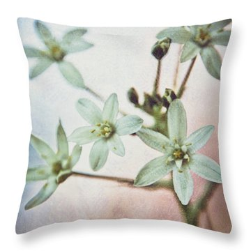 Star Flower Throw Pillow