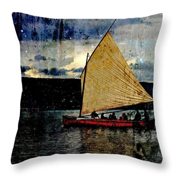 Throw Pillow featuring the photograph Star Ship by Michele Cornelius