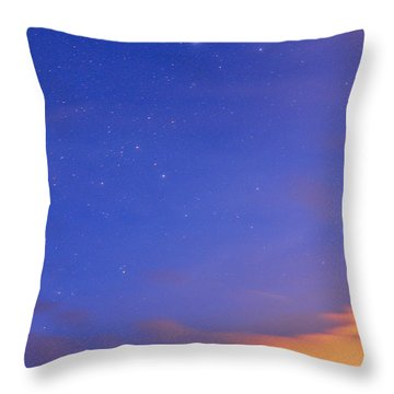 Star Sirius Over National Park Sierra Nevada At Sunset. Constelation Canis Mayor Throw Pillow by Guido Montanes Castillo