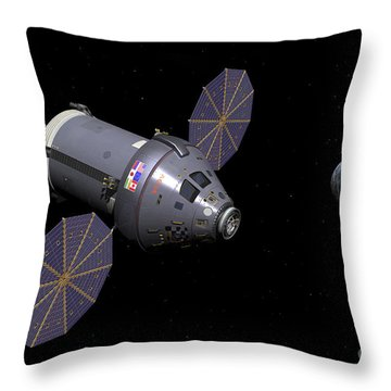Starboard Side Of The Next Generation Throw Pillow by Walter Myers