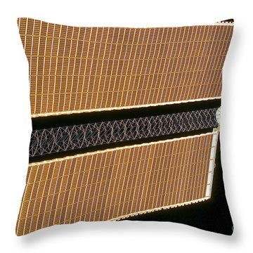 Starboard Solar Array Wing Panel Throw Pillow by Stocktrek Images