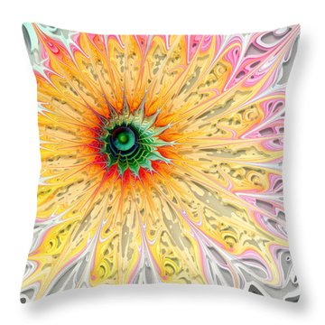 Starburst Throw Pillow by Amanda Moore