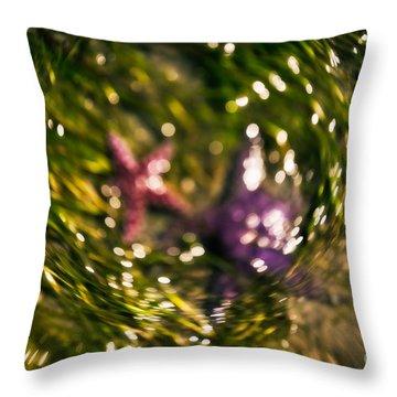Starfish Swirl Throw Pillow by Venetta Archer