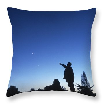 Stargazing Throw Pillow by Science Source