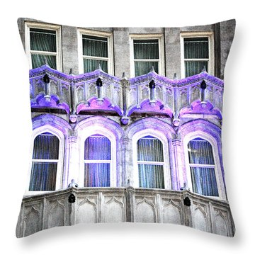 Throw Pillow featuring the photograph Stark Blue by Shawn O'Brien