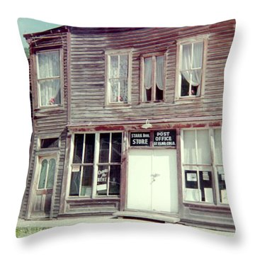 Throw Pillow featuring the photograph Stark Bros Store by Bonfire Photography