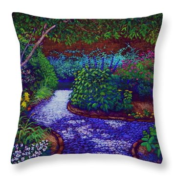 Southern Garden Throw Pillow