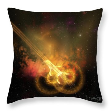 Stars And Gases Collide To Form This Throw Pillow