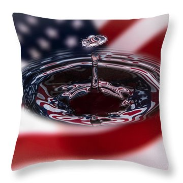 Stars And Stripes Throw Pillow by Susan Candelario