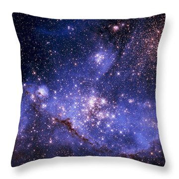 Stars And The Milky Way Throw Pillow by Don Hammond