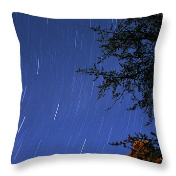 Stars Falling Throw Pillow