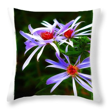 Stars Of Spring Throw Pillow by Judi Bagwell
