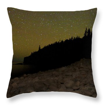 Stars Over Otter Cliffs Throw Pillow by Brent L Ander