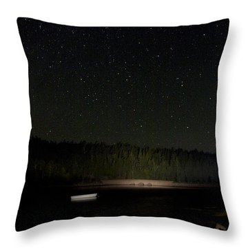 Stars Over Otter Cove Throw Pillow by Brent L Ander