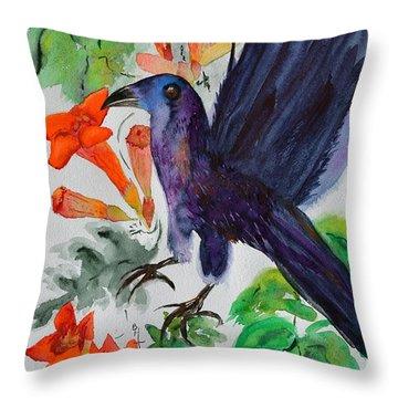 Startle Throw Pillow by Beverley Harper Tinsley
