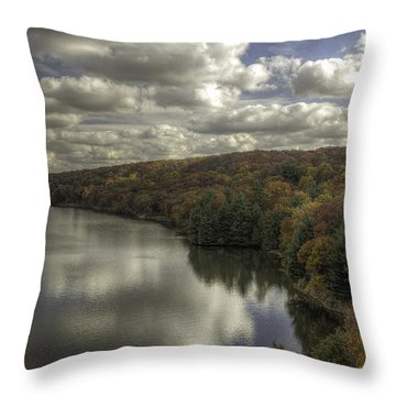 Starved Rock Fall Colors Throw Pillow