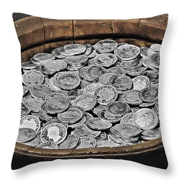 State Treasure Fortress Koenigstein - Saxonia - Germany Throw Pillow by Christine Till
