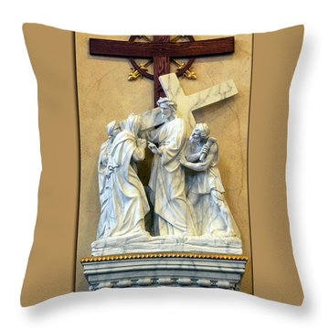 Station Of The Cross 04 Throw Pillow by Thomas Woolworth