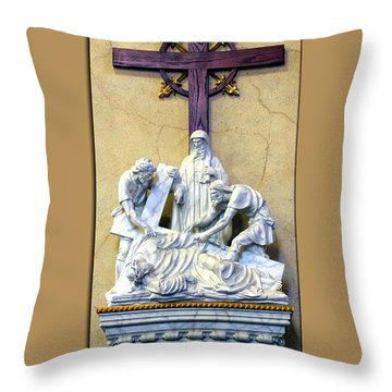 Station Of The Cross 09 Throw Pillow by Thomas Woolworth