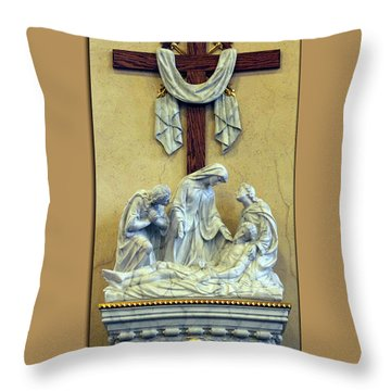 Station Of The Cross 13 Throw Pillow by Thomas Woolworth