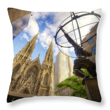 Statue And Spires Throw Pillow