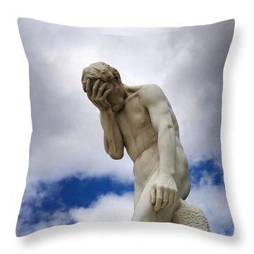 Statue. Jardin Des Tuileries. Paris. Throw Pillow by Bernard Jaubert