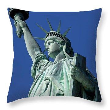Statue Of Liberty Throw Pillow by Brian Jannsen