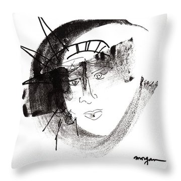 Statue Of Liberty Throw Pillow by Patrick Morgan