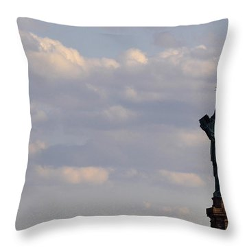 Statue Of Liberty Throw Pillow by Zawhaus Photography