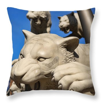 Stay Back Throw Pillow by Gordon Dean II