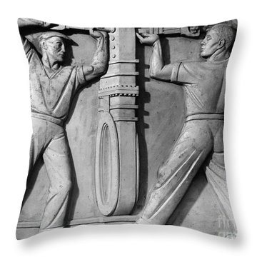 Stea: Sewage Workers Throw Pillow by Granger