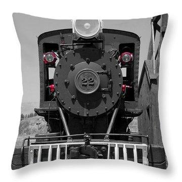 Throw Pillow featuring the photograph Steam Engine Train by Deniece Platt