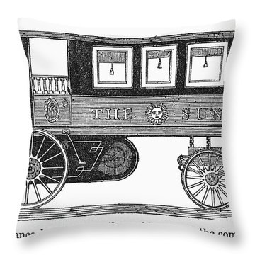 Steam Omnibus, 1830s Throw Pillow by Granger