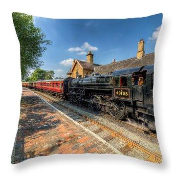 Steam Train Throw Pillow by Adrian Evans