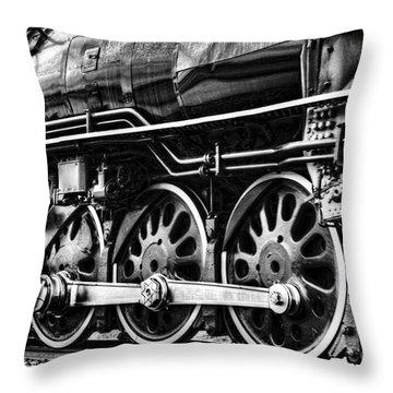 Steam Train No 844 - IIi Throw Pillow by Donna Greene