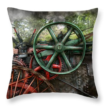 Steampunk - Machine - Transportation Of The Future Throw Pillow by Mike Savad