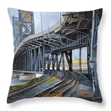 Steel Bridge 2012 Throw Pillow