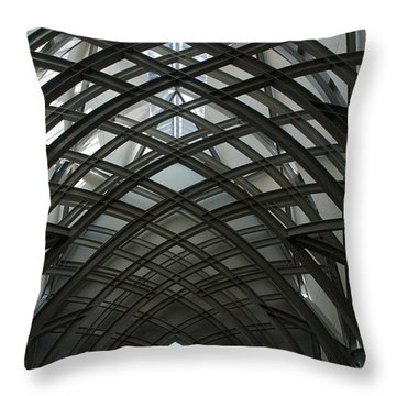 Steel Throw Pillow by Joseph Yarbrough