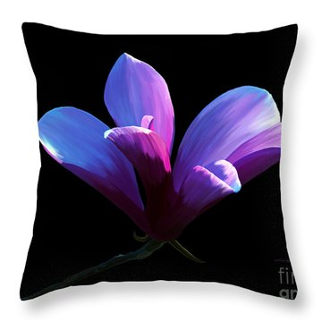 Steel Magnolia Throw Pillow by Patricia Griffin Brett