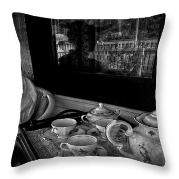 Steeped Tea Throw Pillow by Empty Wall