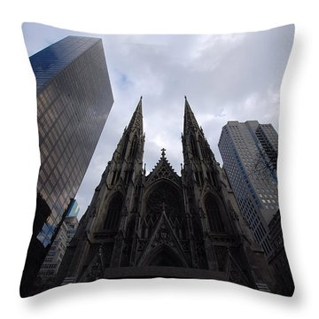 Throw Pillow featuring the photograph Steeples by John Schneider