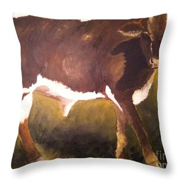 Steer Calf Throw Pillow