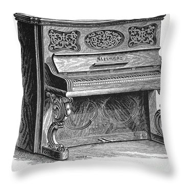 Steinway Piano, 1878 Throw Pillow by Granger