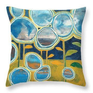Stella Throw Pillow by Casey Rasmussen White