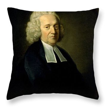 Stephen Hales, English Botanist Throw Pillow by Science Source