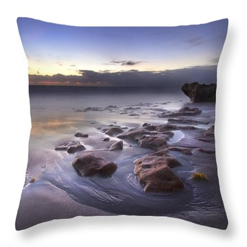 Stepping Stones Throw Pillow by Debra and Dave Vanderlaan