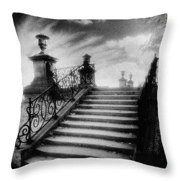 Steps At Chateau Vieux Throw Pillow by Simon Marsden